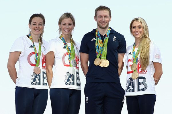 Laura Trott Photos - (l to r) Team GB cyclists Katy Marchant, Rebecca James…