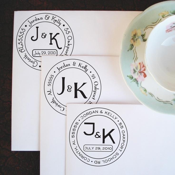 Medium Wedding Monogram Address Stamp 28 00 Via Etsy And This Thing Already Has