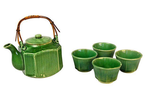 Asian Tea Set, 5 Pcs on OneKingsLane.com