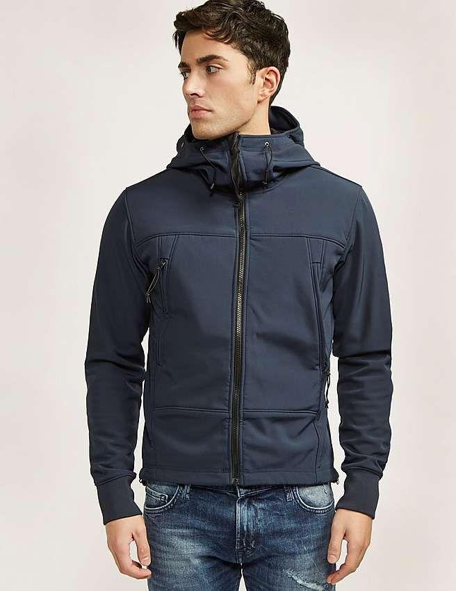 blue CP Company Goggle Hood Jacket