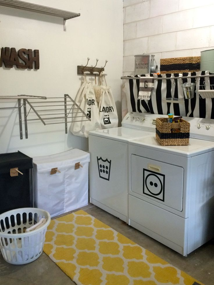 1000 ideas about garage laundry rooms on pinterest garage laundry small laundry area and. Black Bedroom Furniture Sets. Home Design Ideas