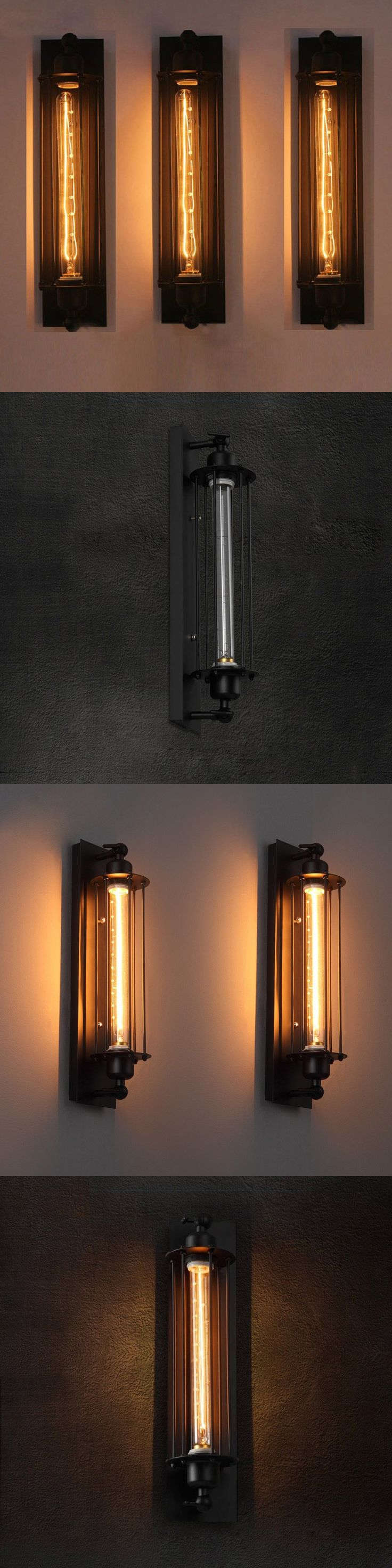 Indoor decorative led ceiling lights wall lamps china led ceiling - Loft Vintage Wall Lamps American Industrial Wall Light Bedside Wall Fixtures Home Decoration Lighting Give Led Light Bulb