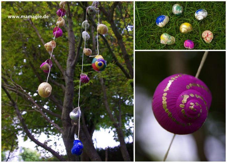 Schneckenhäuser als Gartendeko / Snail shells become garden decoration / Upcycling