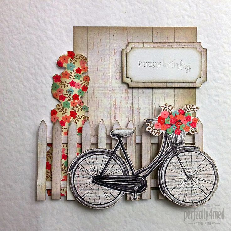 card with bicycle bike #bikecard - Craftwork Cards Blog: Al Fresco Cards - by Neil Burley