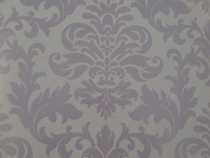 Lilac purple shades damask pattern designer feature for Purple feature wallpaper living room