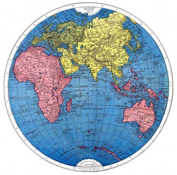 FREE Vintage Globe Printables