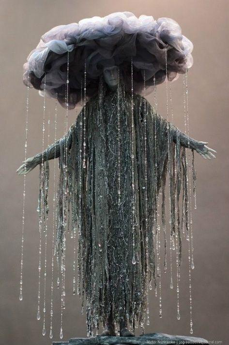 Cloud and rain costume