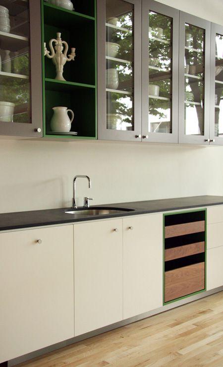 Viola Park, Snowbound white lower cabinets with Mega Greige grey upper cabinets