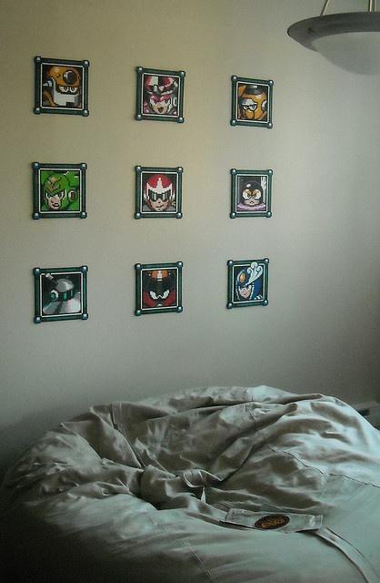 Mega man boss tiles