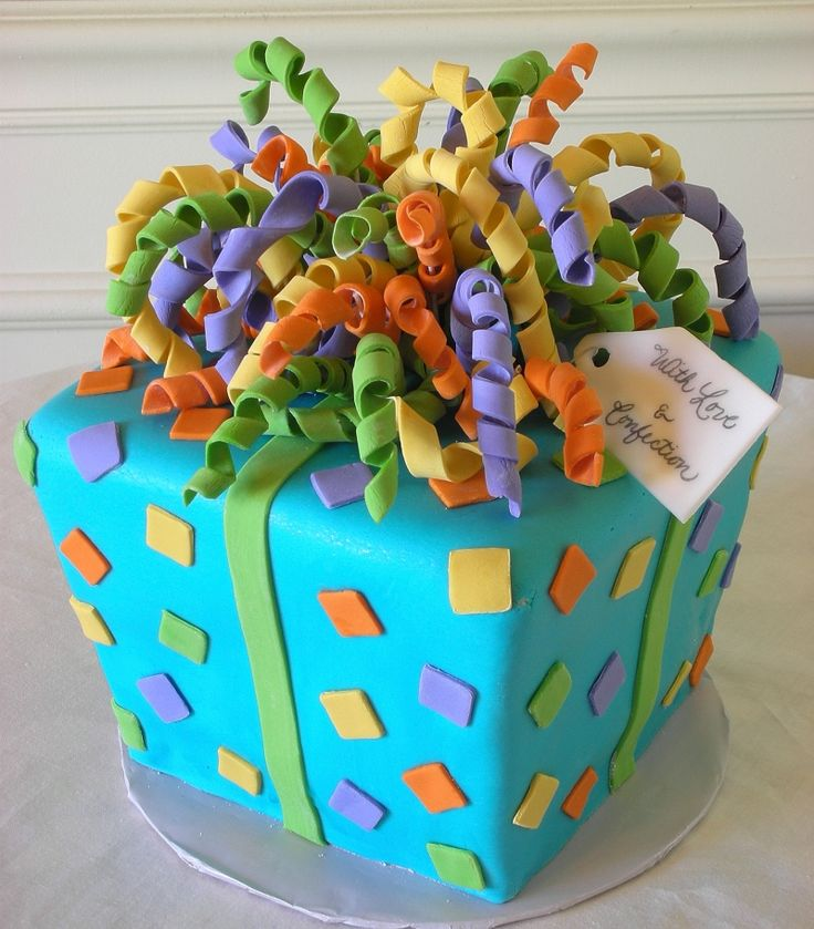 Present cake, so cute! From: cake central