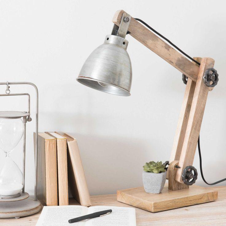 Les 25 meilleures id es concernant bricolage d 39 abat jour - Lampe de bureau bois ...