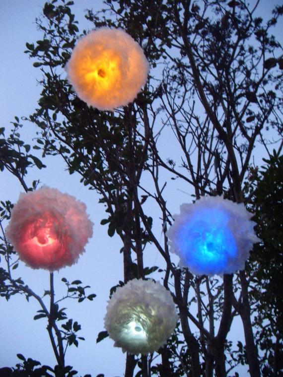 Decorative Recycled Lantern white by LumiereLanterns on Etsy, $20.00