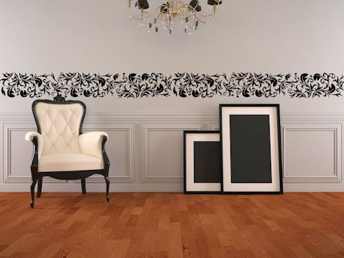 17 Best Ideas About Painted Wall Borders On Pinterest