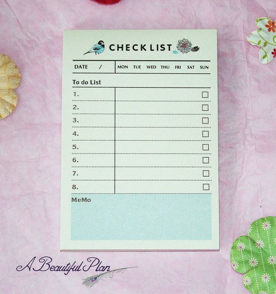 Cute To-Do Sticky Note List Pad