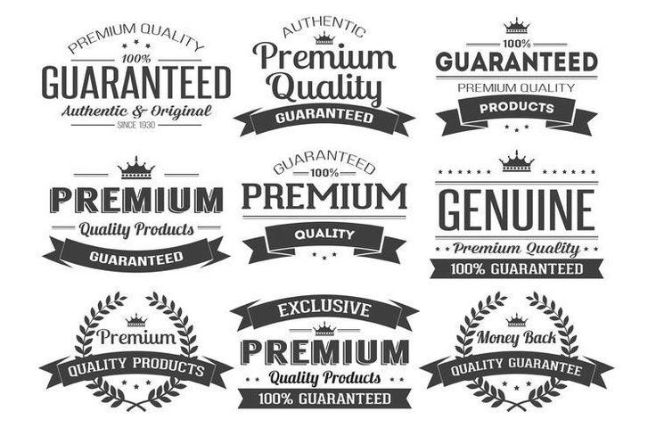 Label Vector Insignias 9 Logos AI EPS