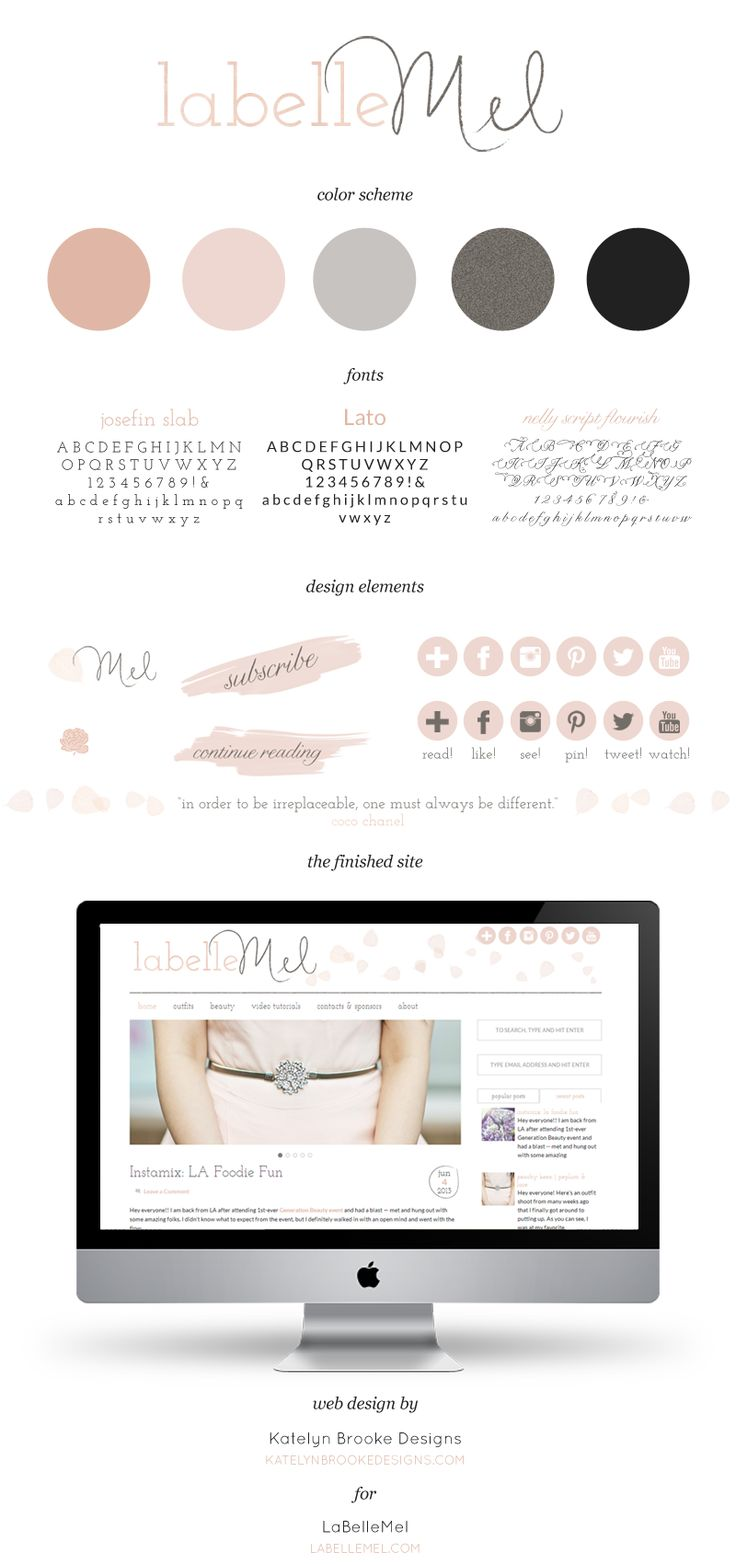LaBelleMel Branding + Design / Katelyn Brooke