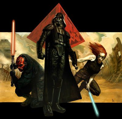 Front cover art for the 'Star Wars Role Playing Game: The Dark Side Sourcebook' by Jon Foster.