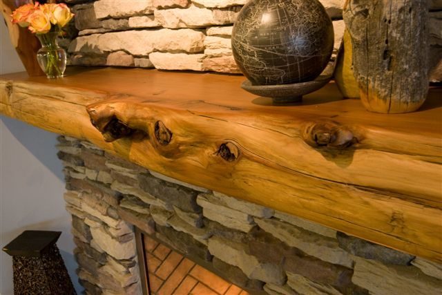 I do believe that we need a log slab for our fireplace mantel :)