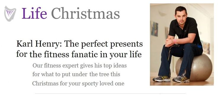 Karl Henry in the Irish Independent: Perfect Fitness Gifts For Your Fitness Fanatic.