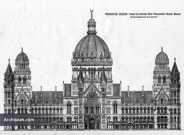 1875 - Premiated Design for New Parliament House, Berlin
