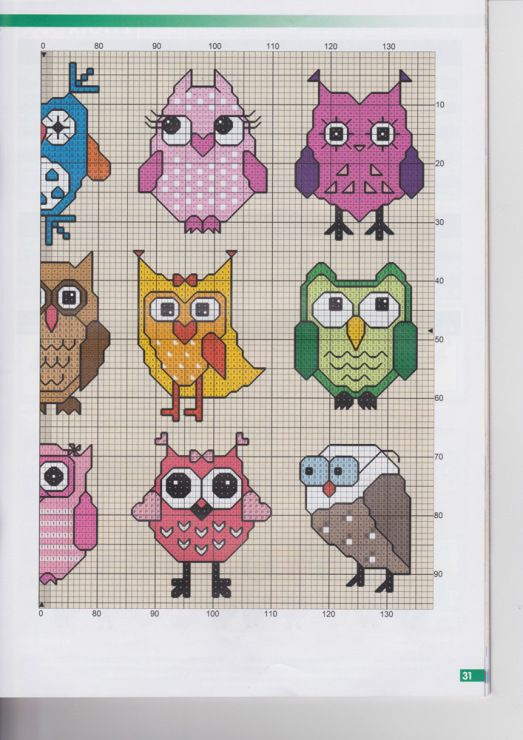 xstitch owls part 2