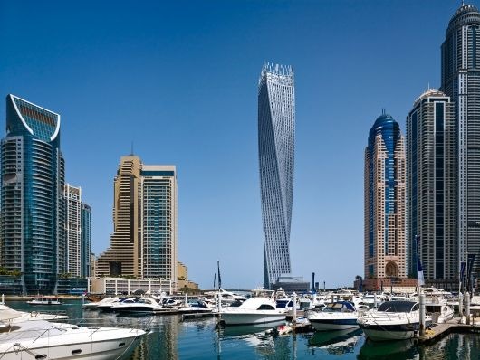 CTBUH announces the 2014 Best Tall Buildings regional winners | Middle East & Africa regional winner: Cayan Tower, Dubai, UAE. Photo © Tim Griffith | Bustler