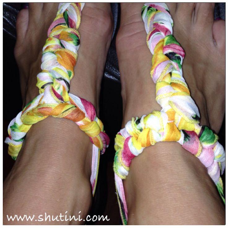 Just one of the gorgeous ways you can tie your Shutini Interchangeable Straps x www.shutini.com  #shutini #tstrap #glamoursandals #createyourownlook #shoponline