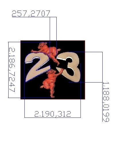 Målsat AutoCAD tegning efter manuel Digitering til AutoCAD tegning. Basis for Stencil skæring af både tal og figurer.