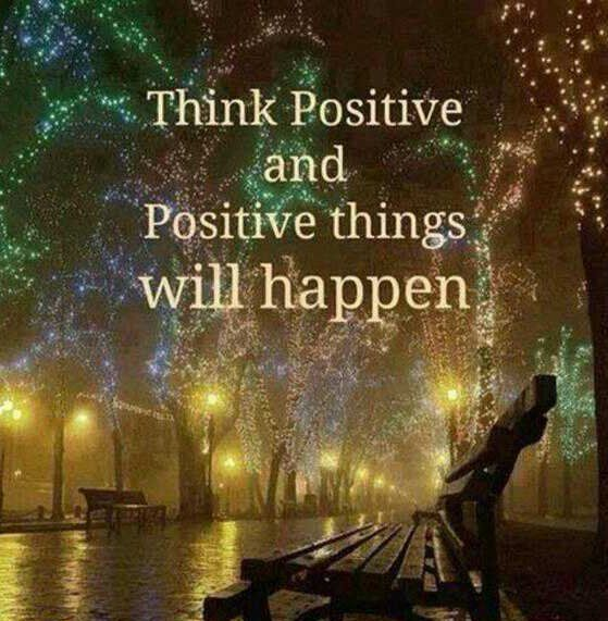 Think #positive and positive things will happen.  #MondayMotivation