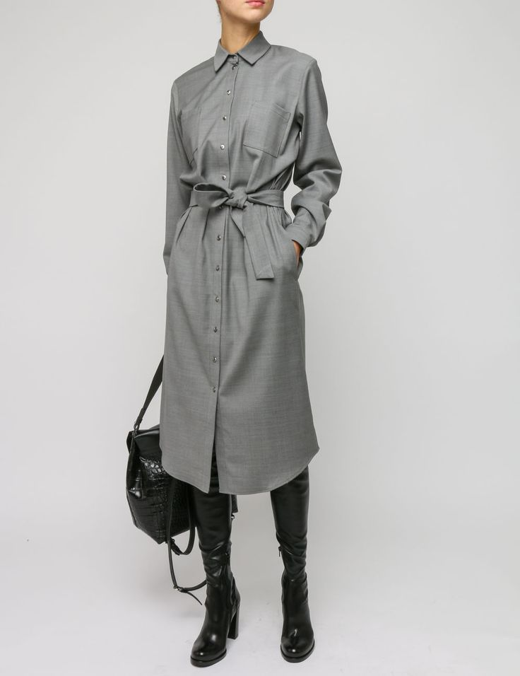 Платье-рубашка миди LA ROOM купить в интернет-магазине