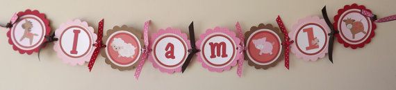 NEWRed and Pink High Chair Banner by SerendipityPartyShop on Etsy, $11.00