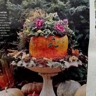 Fall Planter Idea. Better Homes And Gardens October 2007 Idea.