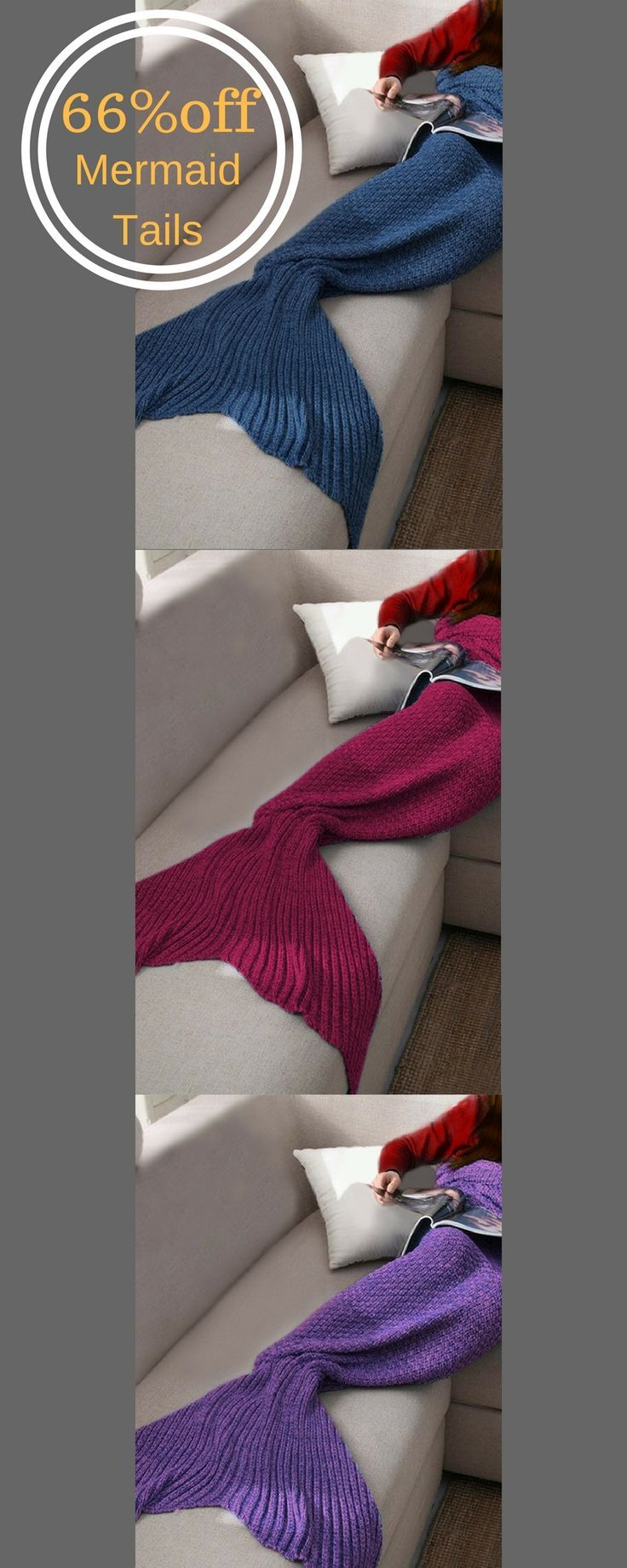 This soft, knitted Mermaid Tail Blanket is much more fun than an ordinary blanket. Use it on camping trips, long car rides, snuggling up with a good book or watching TV. It makes a great gift for the mermaid lover in your life. #afflink #mermaid #blanket #livingroomdecor #cozy #fall #warm