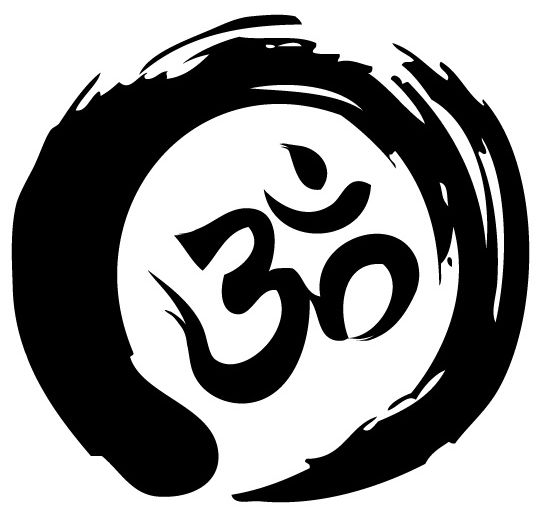 zen circle and om symbol tattoo