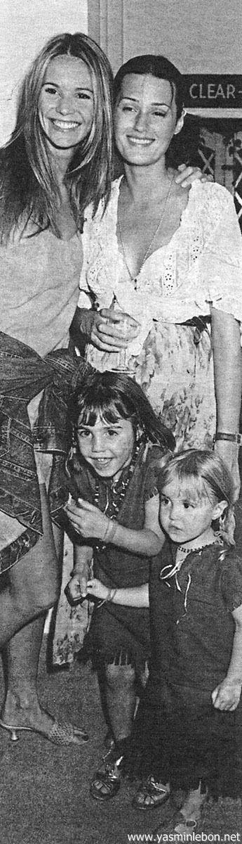 Yasmin, Amber & Saffron Le Bon with Elle 1994