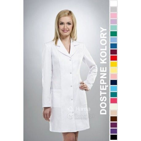 Dobrej jakości i wygodna odzież medyczna, to niezawodny atrybut każdego lekarza, pielęgniarki, czy farmaceutki. Spójrz na nasz fartuch medyczny damski. | Dersa