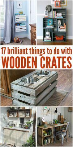 Ich wusste nicht, dass man mit Holzkisten so viele tolle Dinge machen kann! -Eine C …  – House Decorating
