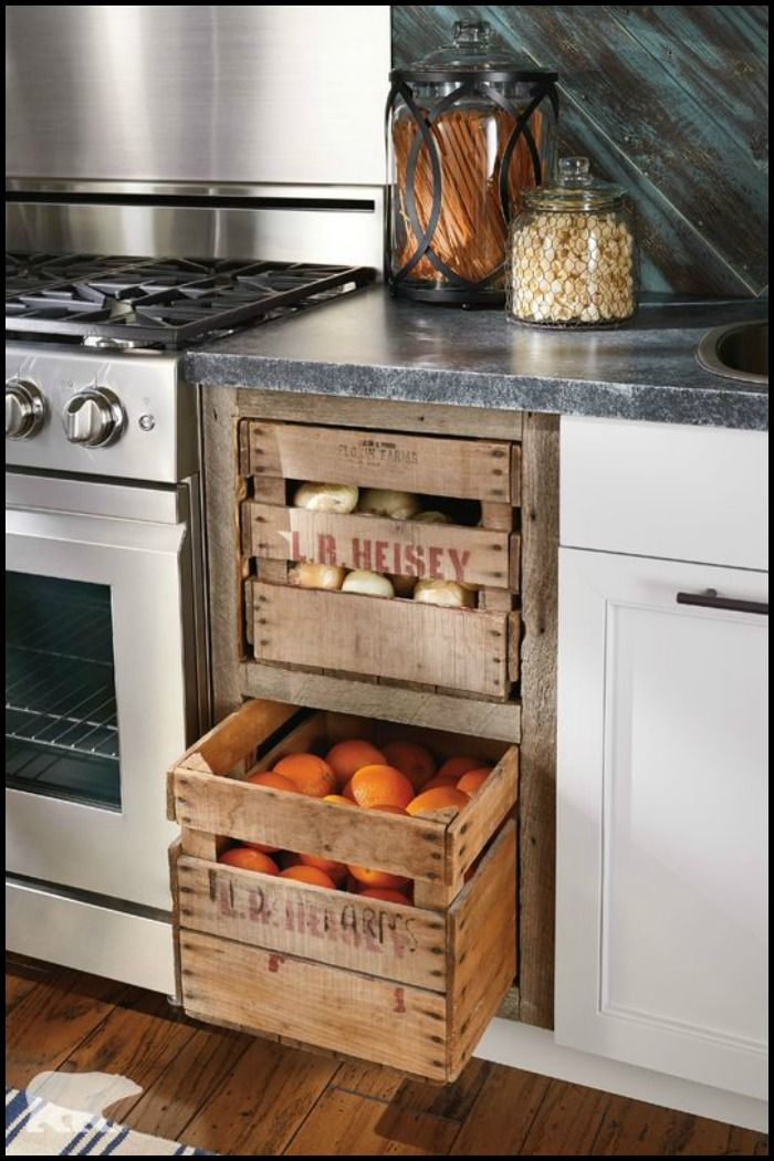 Here's a perfect way to use wooden crates at home! We've got more repurposed wooden crate ideas on our site for your inspiration :)