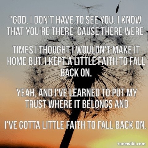 """Hunter Hayes, """"Faith to Fall Back On"""""""