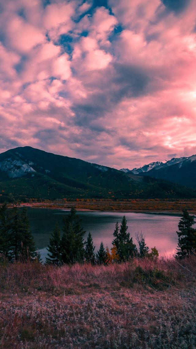 640x1136 Горы, озеро, закат обои iPhone 5S, 5C, 5 | Обои ...