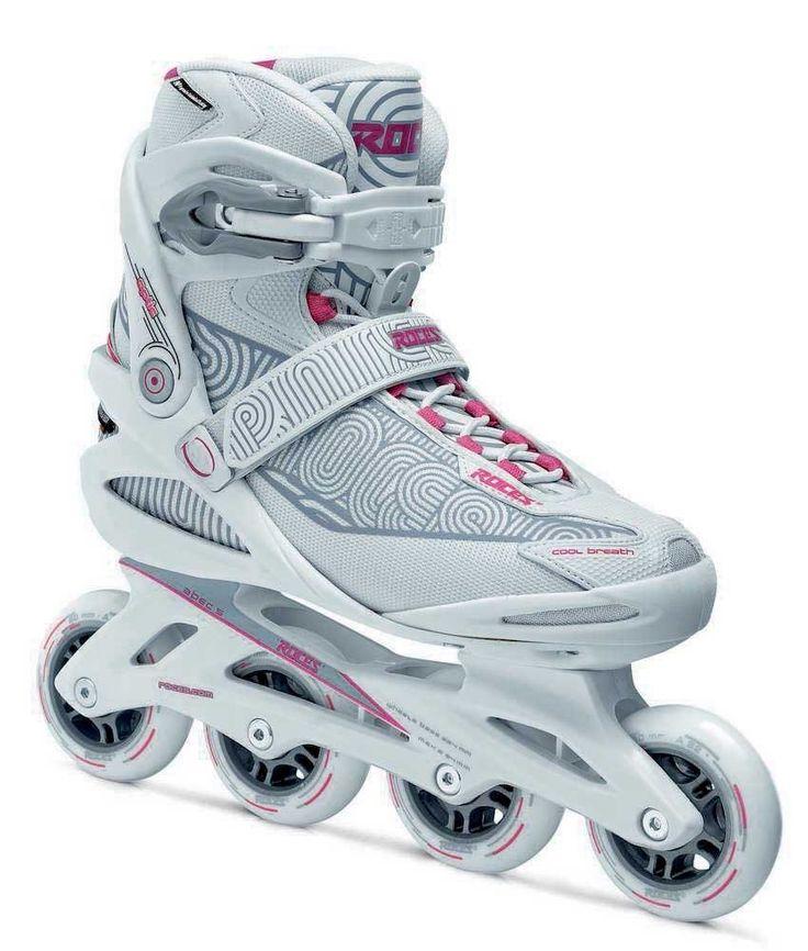 Roces Women's Optic Inline Fitness Skates, White/Carmine Pink.