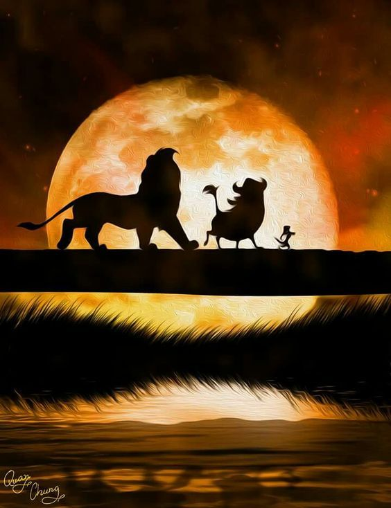 Simba, Pumbaa and Timone- The Lion King