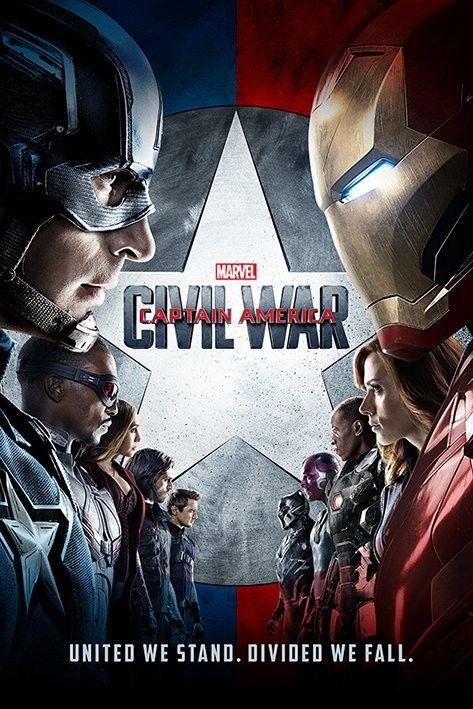 Captain America: Občanská válka - One Sheet - Plakát, Obraz na Posters.cz