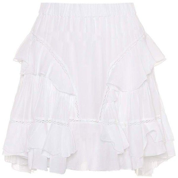 Isabel Marant, Étoile Varese Cotton-Blend Miniskirt (2.525 DKK) ❤ liked on Polyvore featuring skirts, mini skirts, white, white skirt, white mini skirt, short white skirt, short skirts and mini skirt