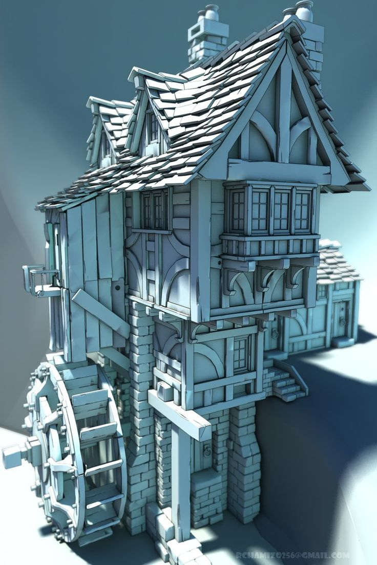 Old houses concepts, tudoresque and medieval. Looking for interesting shapes and materials