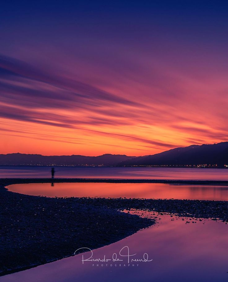 "60 Likes, 6 Comments - Ricardo de Treend (@ricardodetreend) on Instagram: ""The Petone foreshore is a great place to watch the sun setting over Wellington city. Captured…"""