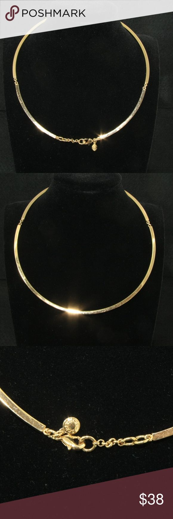 J. Crew Gold Choker J. Crew Gold Choker.  Gold Tone. 1 inch adjustable chain extender. Closure has signature J. Crew disc.  Versatile! A great neutral that goes well with lots of different necklines, from tee shirts to formal dresses.  Used item: any wear shown in pics. No major scratches, but some rubbing consistent with gentle use.  Bundle Up!  Offers always welcome : ) J. Crew Jewelry Necklaces #GoldJewelleryFormal