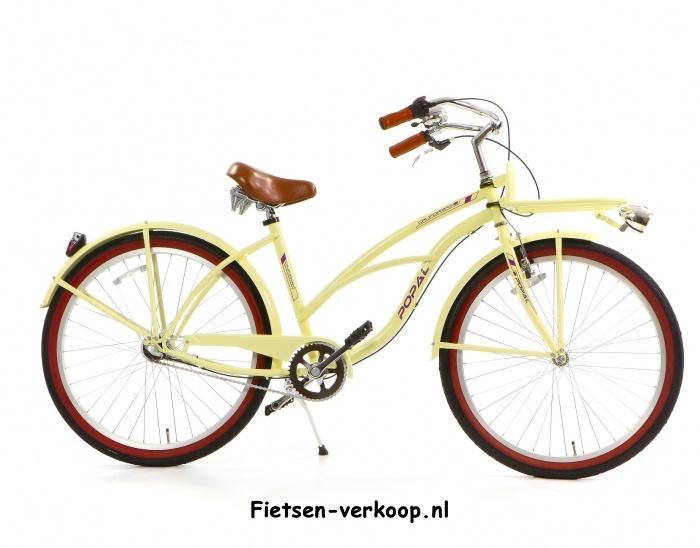 Damesfiets Californian Creme 26 Inch. | bestel gemakkelijk online op Fietsen-verkoop.nl