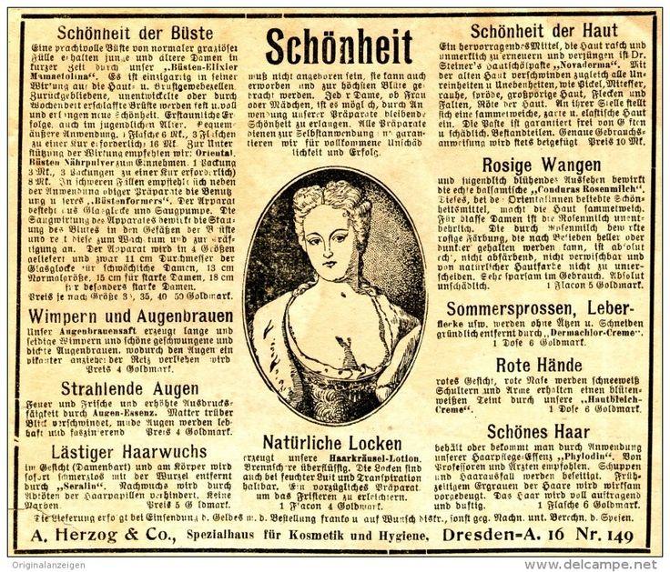 Original-Werbung/ Anzeige 1924 - SCHÖNHEIT / HERZOG - DRESDEN - ca. 140 X 120 mm
