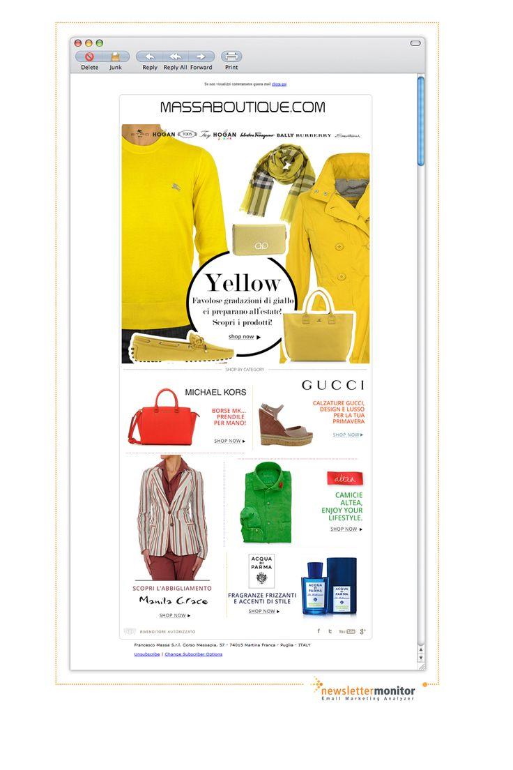 Brand: Massaboutique | Subject: Burberry, Hogan, Tod's, Ferragamo per il tuo look in giallo: scopri tutte le Collezioni PE2013 - Spedizione gratuita